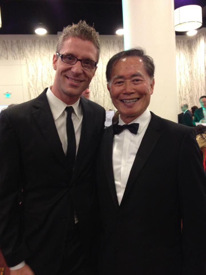 With Allegiance producer, Lorenzo Thione, at the annual Japanese American Nat'l Museum Gala Dinner in downtown LA. I helped found the museum and remain chairman emeritus. We commemorate this year the 70th anniversary of Exec Order 9066, which set into motion the Japanese American internment.