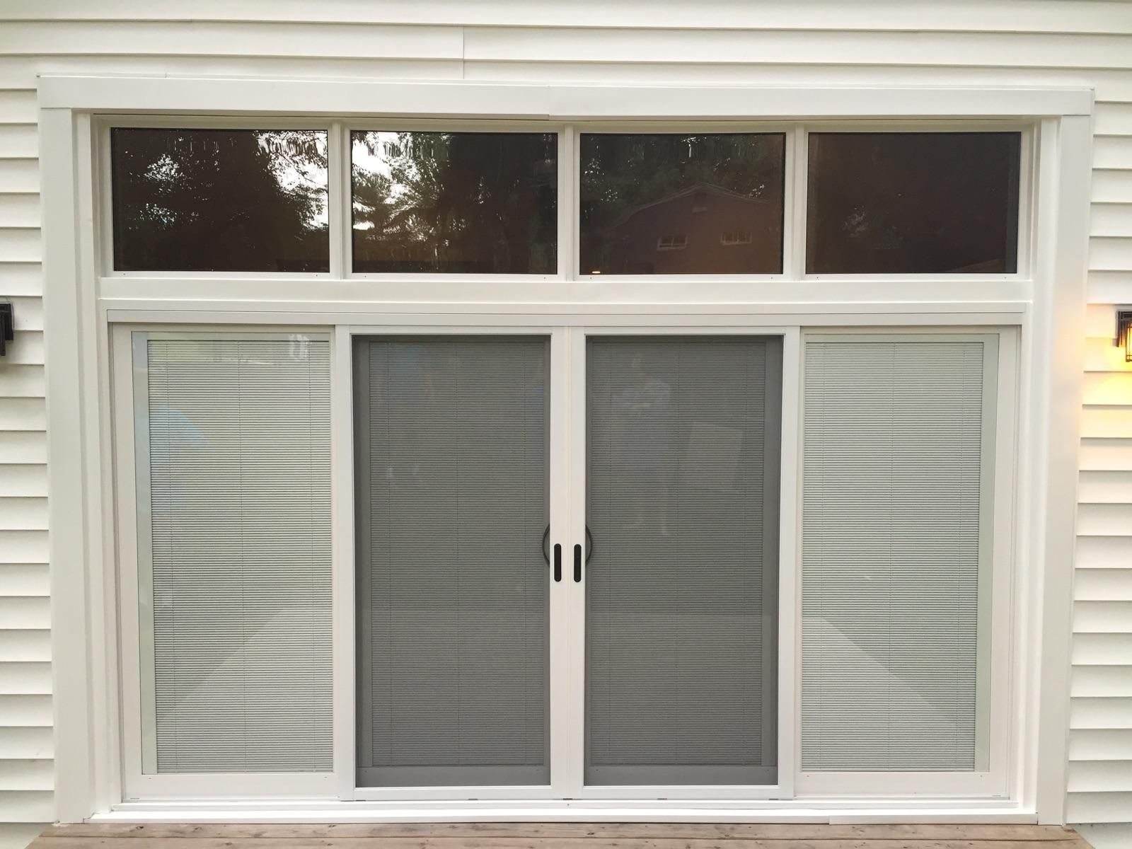 Custom 4 Panel Sliding Glass Door With Four Custom Transoms Above Sliding Doors Sliding Glass Door Patio Doors
