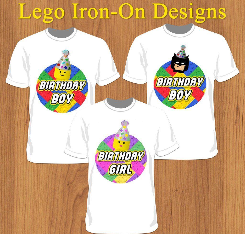 Birthday Boy or Birthday Girl Lego Shirt - Print-Ready Template ...