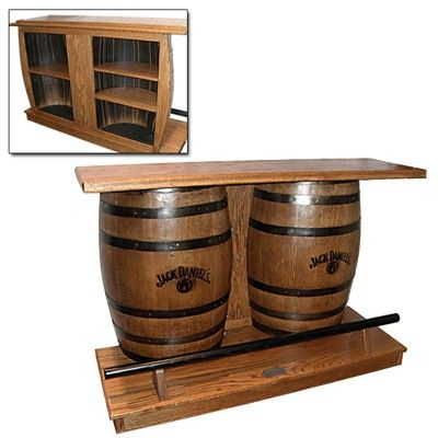 Fantastic Idea To Use An Old Barrel For Your Man Cave Bar