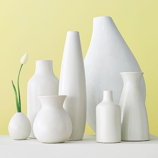 Pure White Ceramic Vases #purewhite