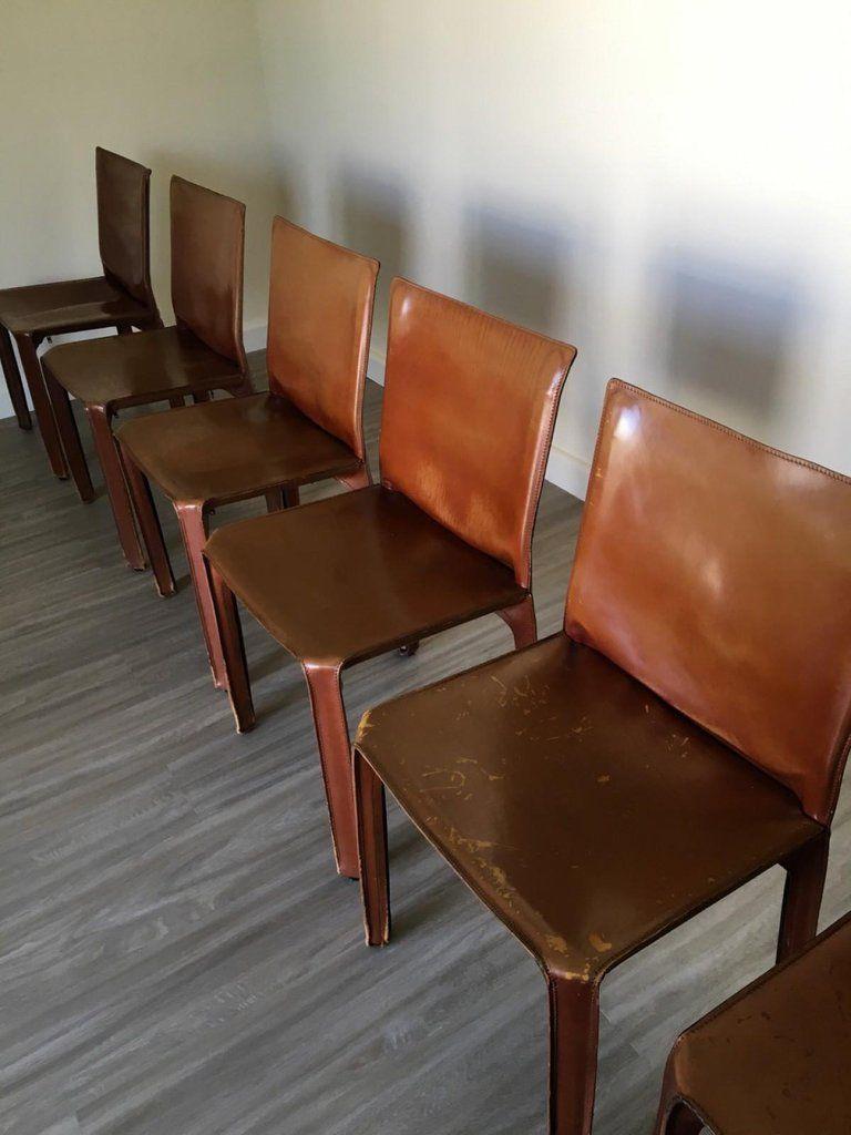 Superb 8 Cassina Cab Brown Leather Chairs Designer Mario Bellini In Creativecarmelina Interior Chair Design Creativecarmelinacom