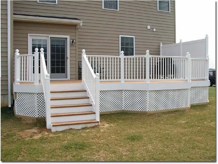 This House Is Similar In Color To Ours This Gives A Good Idea Of What A White Railing Deck