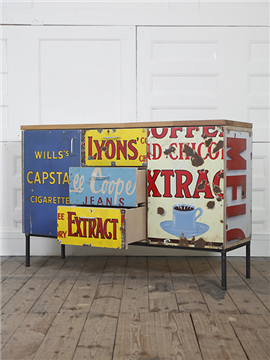Rupert Blanchard's upcycled cupboards at Elemental