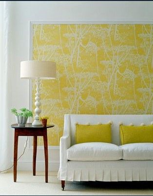 framed wallpaper} art If u don\'t wanna paint a whole wall....this ...