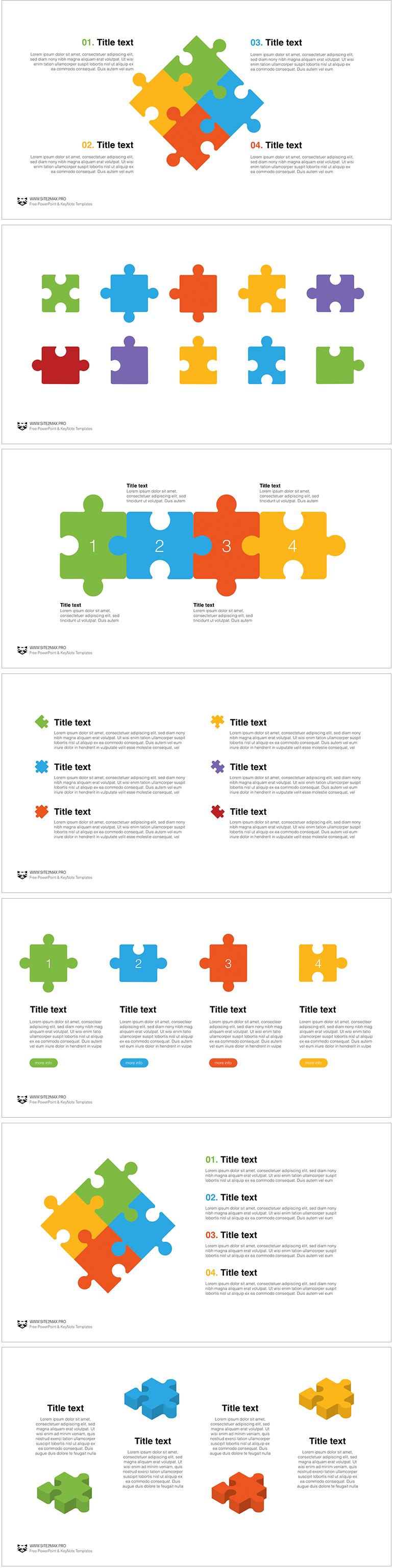 puzzle free key template 5 keynote template 1 pinterest