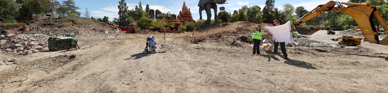 Star Wars Land 360 Disneyland California