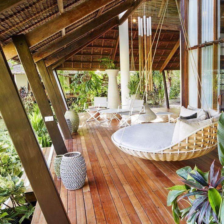 Tropical Beach House Interior: 65 Designs For Tropical Family Rooms 2019 16