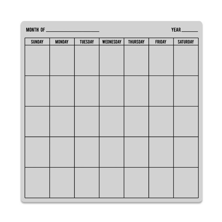CG694 Calendar Bold Prints - how to create your own calendar