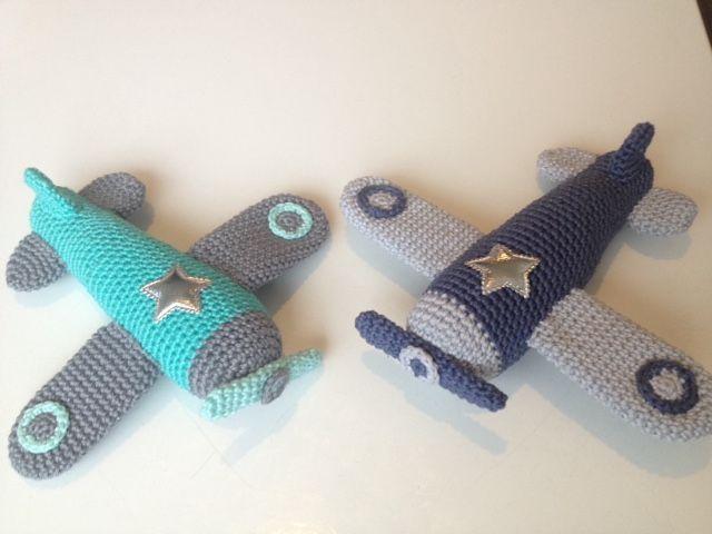 Free aeroplane rattle crochet pattern. Super cute baby gift idea ...
