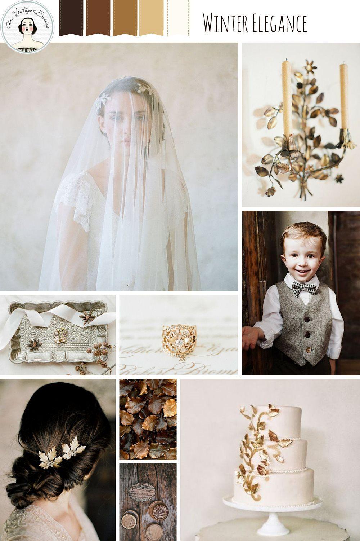 Winter Elegance – Winter Wedding Inspiration in Coffee & Gold ...