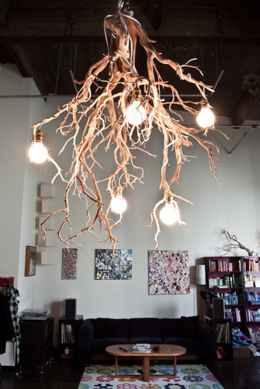 30 Creative DIY Ideas For Rustic Tree Branch Chandeliers I Want This Light Fixture