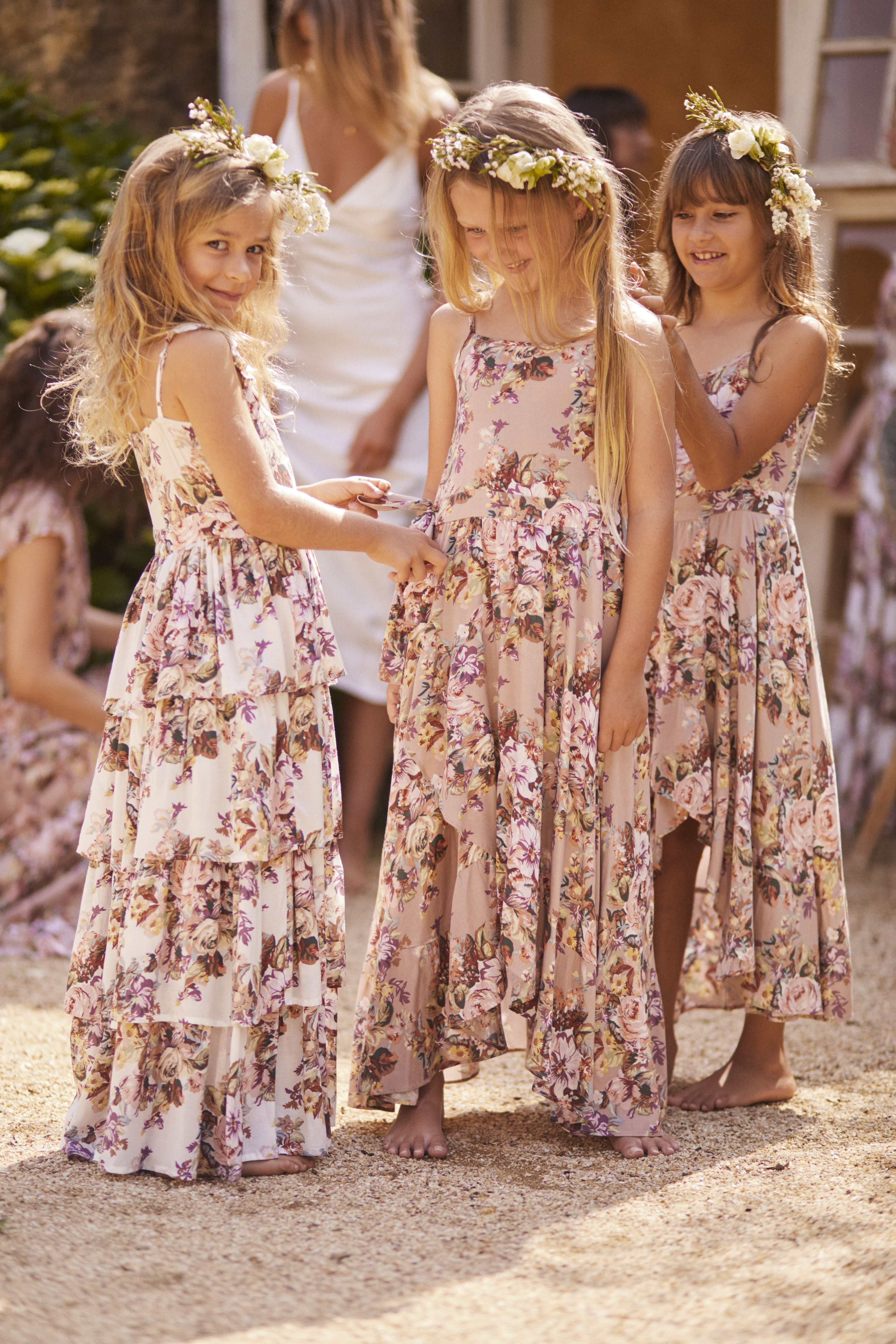 de9226d63f5b Vintage-inspired floral flower girl dresses by Auguste the Label ...
