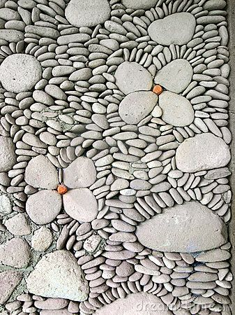 pebble wall detail, Bali