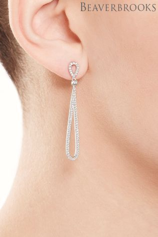 ee5507a44 Buy Beaverbrooks Silver Cubic Zirconia Drop Earrings from the Next UK  online shop
