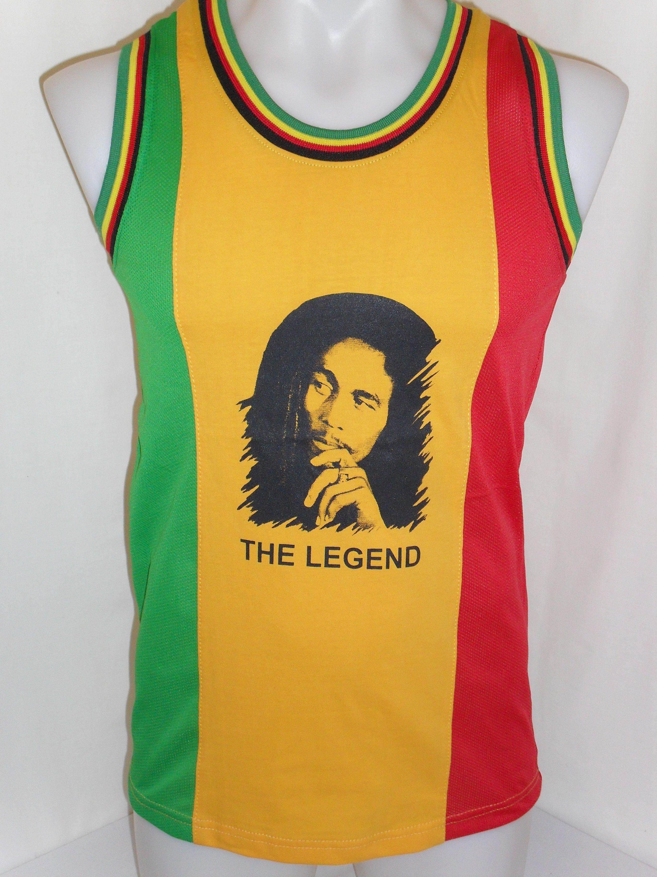 7cb7419d8781c3 Bob Marley The Legend Rasta Vest