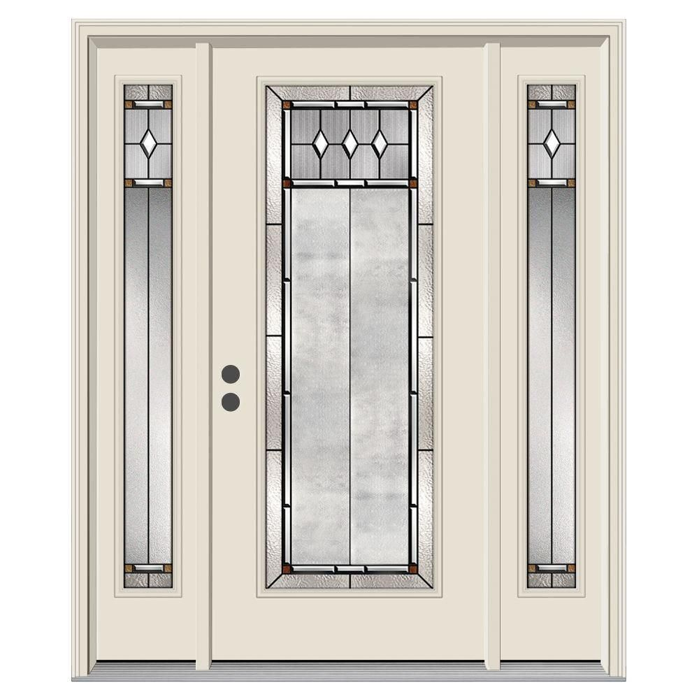 Jeld Wen 62 In X 80 In Full Lite Mission Prairie Primed Steel Prehung Right Hand Inswing Front Door With Sidelites H31399 The Home Depot Jeld Wen Steel Entry Doors Front Door