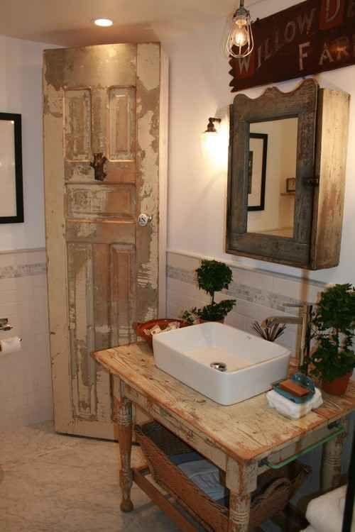 decoracion de baños pequeños rusticos (5)                              …