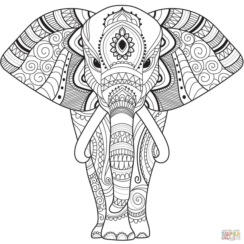 Dibujo De Zentangle Elefante Para Colorear Dibujos Para Colorear Imprimir Grat En 2020 Mandalas Para Colorear Mandalas Para Colorear Animales Elefantes Para Colorear