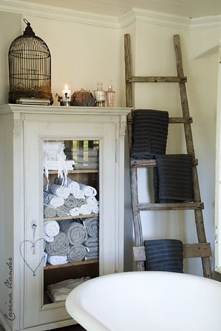 love the linen cabinet