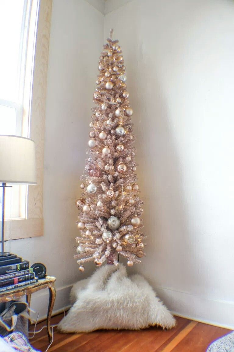 Samantha Hauger S Rose Gold Tinsel Christmas Tree