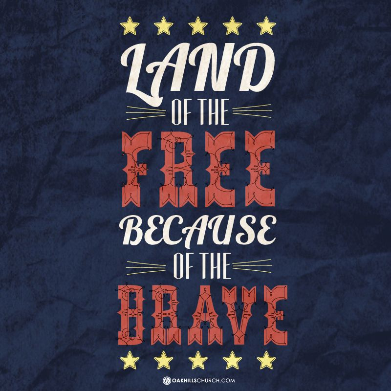 Land Of The Free Because Of The Brave Happy Memorial Day From Oak