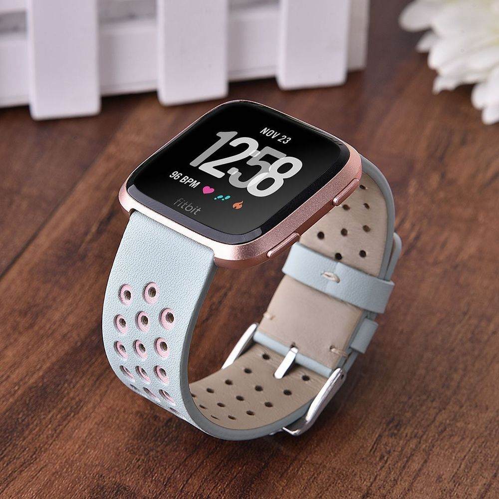 Details About Perforated Band Replacement For Fitbit Versa Strap