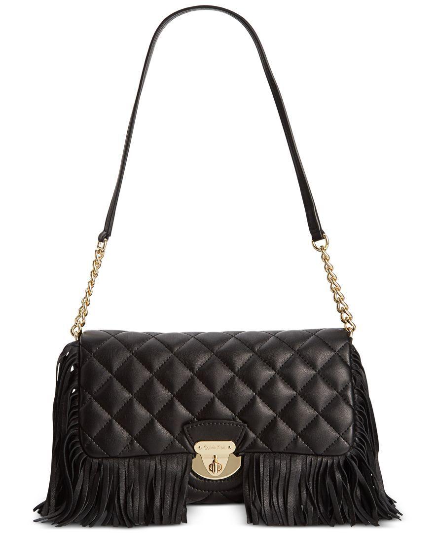 Calvin Klein Lamb Shoulder Bag