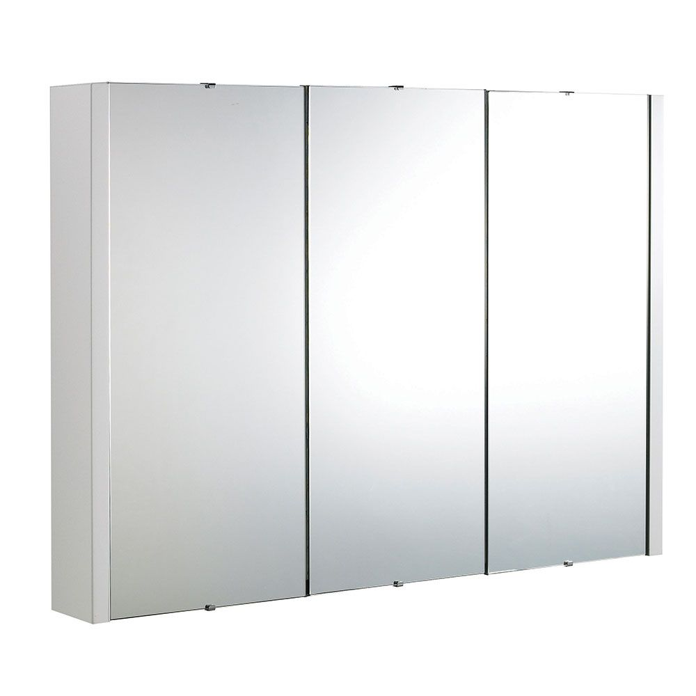 Buy Premier Lux White 3 Door Wall Mounted Mirror Cabinet 650mm High ...