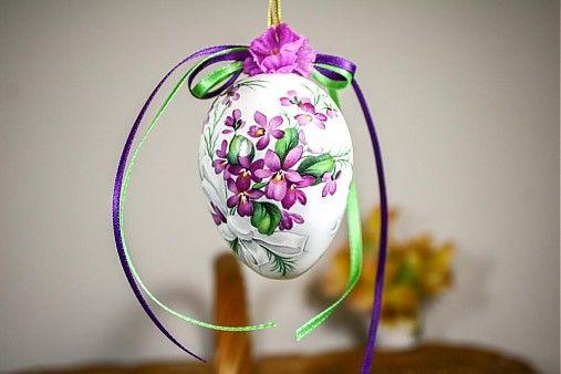 handloved / Easter egg / Veľkonočné vajíčko - fialkové