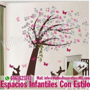 Vinilos de Arboles para decorar paredes , vinilos para bebes, vinilos de arboles infantiles www.VinilosDecorativosMX.com