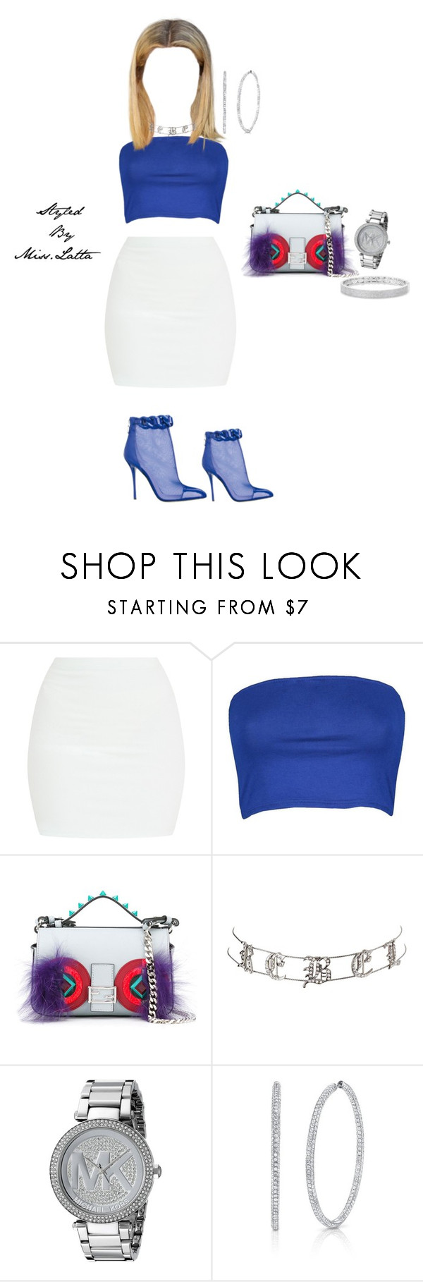 """""""Untitled #252"""" by latta-alexis ❤ liked on Polyvore featuring Boohoo, Fendi, Charlotte Russe, Michael Kors and Anne Sisteron"""