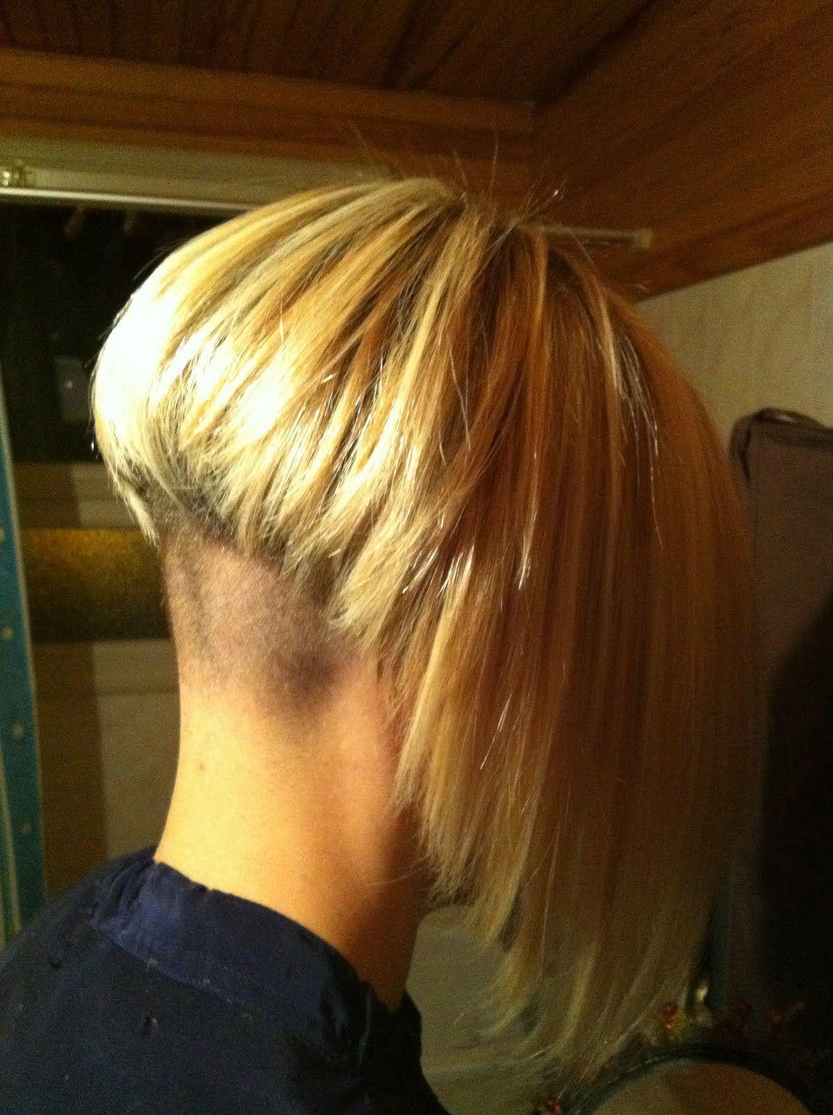 pin on hair, super short napes