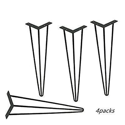 Locisne 4 Pack Heavy Duty Épingle à cheveux Legs-Superior Weld - Hauteur Table Salle A Manger