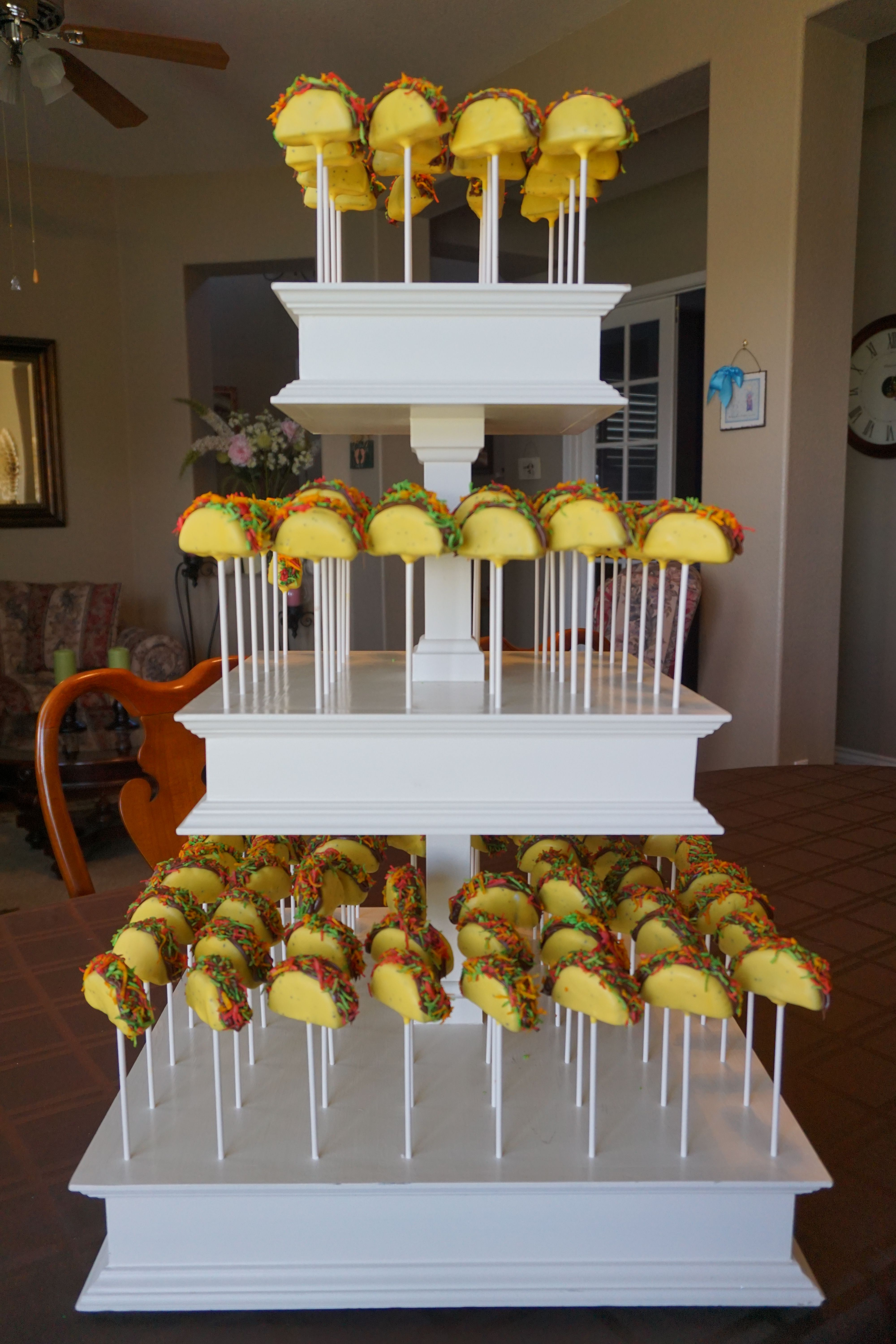 Fiesta taco cakepops fiesta theme party mexican