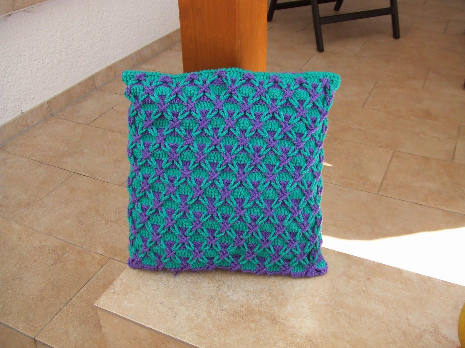 Kissen polnischer Stern, häkeln, crochet, pattern, Häkelschrift ...