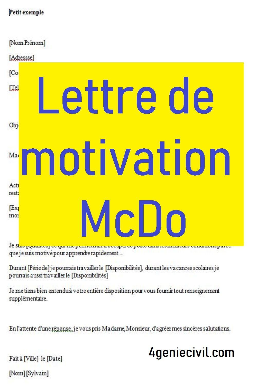 lettre de motivation fast food word en 2021   Lettre de ...
