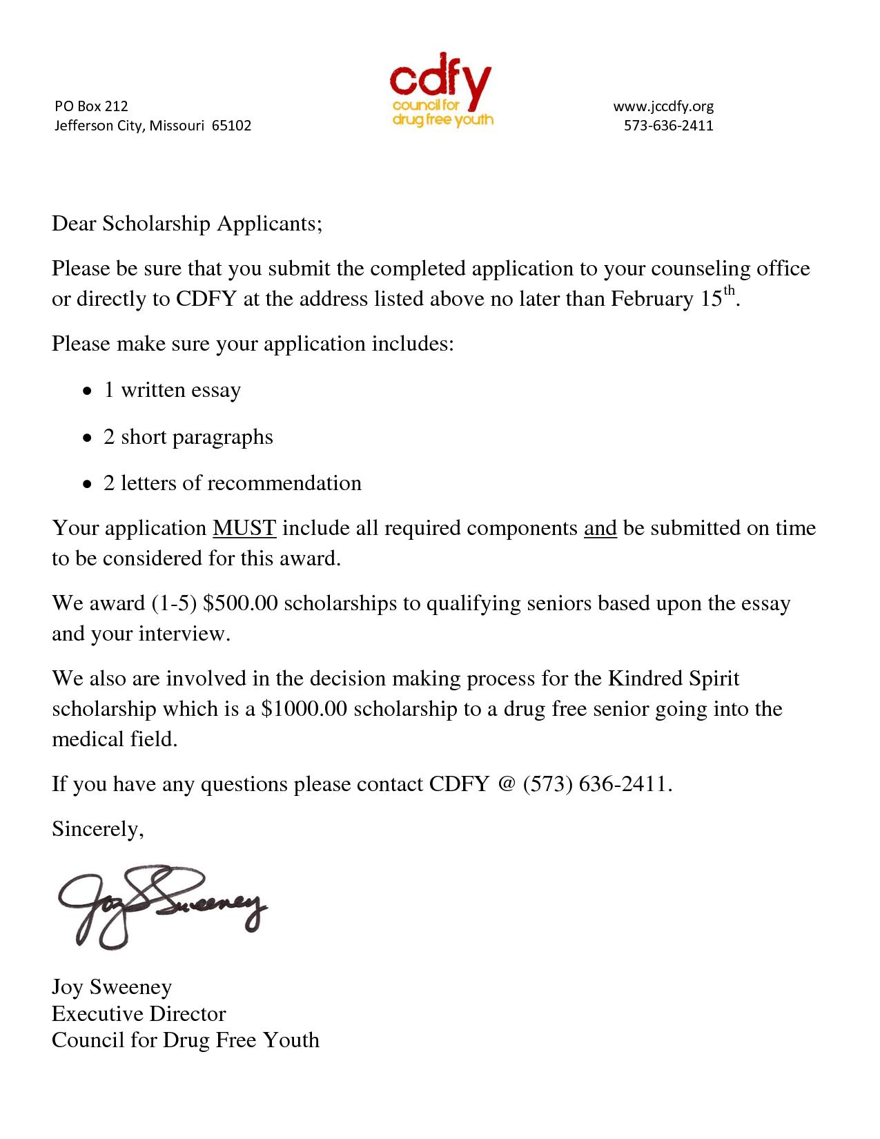 sample scholarship cover letter resume template pinterest students