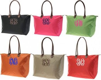 Monogrammed Medium Longchamp Style Tote Bag tinytulip.com - Personalized Gifts at Great Prices - Personalized