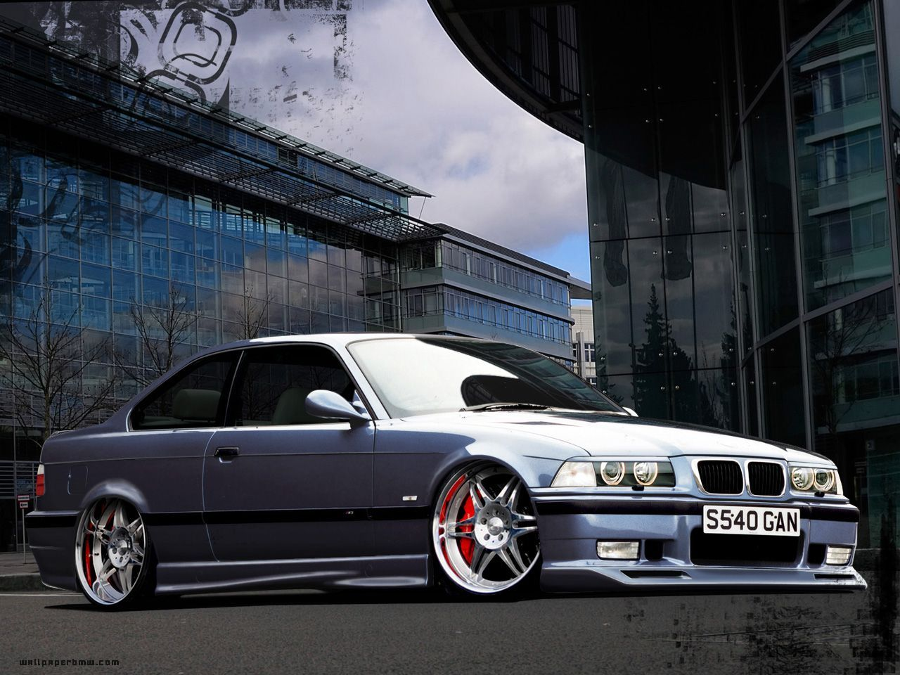BMW E36 Red Tuning Street #7012883