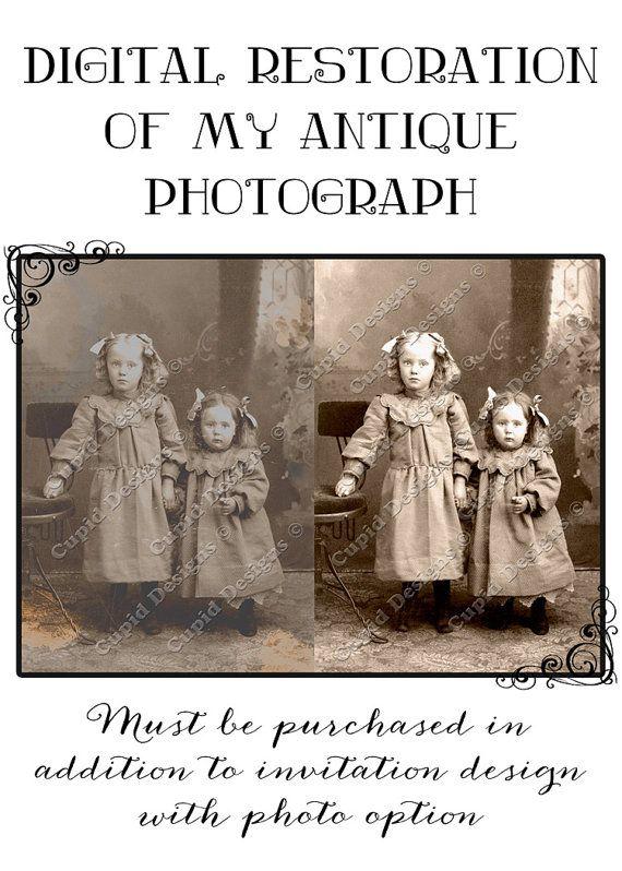 Customize my design custom invitation. Customize by CupidDesigns, $20.00 #digital #photo #restoration #editing #vintage #antique #photography