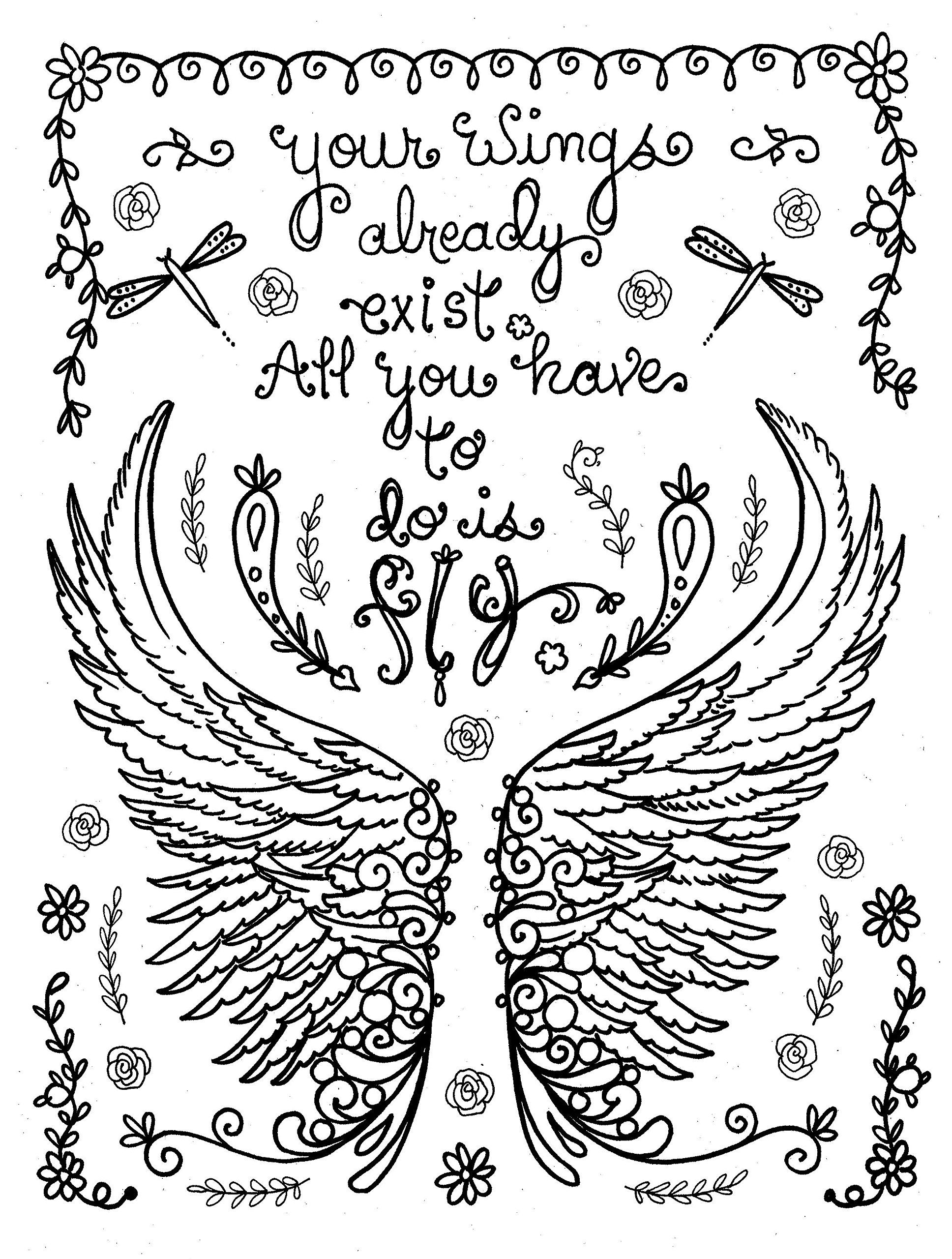 Be brave adult coloring book inspirational messages to get you