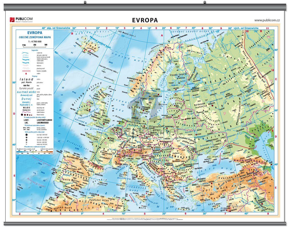 Mapa Evropy Hledat Googlem Mapa Evropa