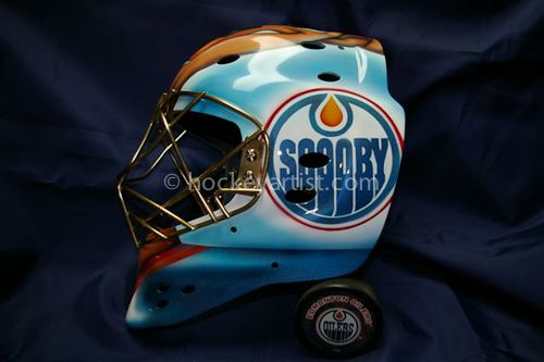 7378279a760 Airbrushed goalie mask with Scooby Doo theme. Airbrush art by Cam Wilson.