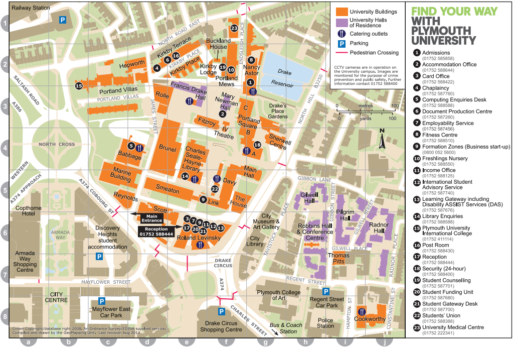 Plymouth Uni Map Plymouth University Campus Map 2014 | Your applicant journey  Plymouth Uni Map