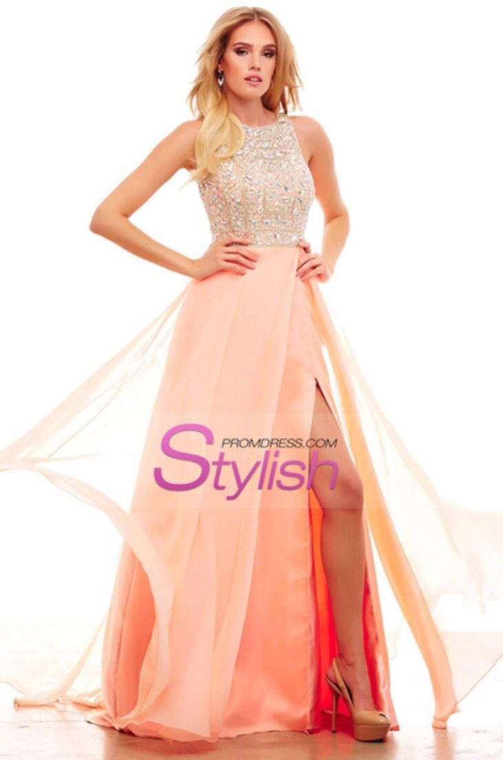 Pink and tan long prom dresses pinterest long prom dresses and