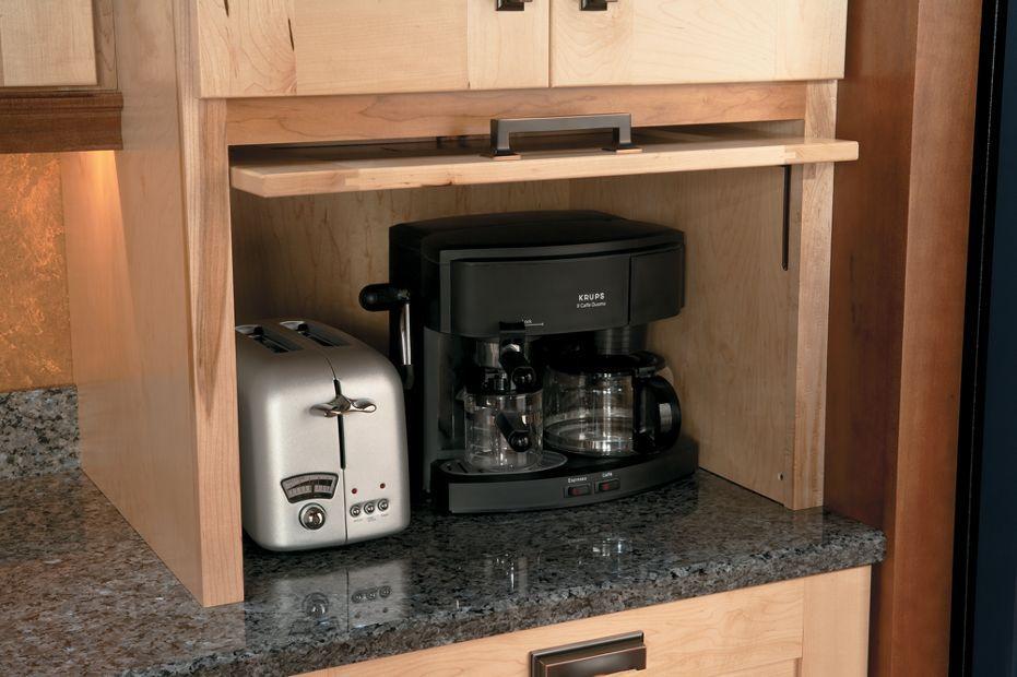Appliance Garage with Easy Lift Up Door | Kitchen cabinet storage ...
