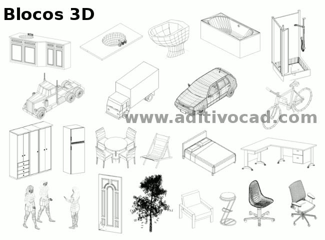 AUTOCAD MOVEIS 3D GRÁTIS DOWNLOAD BLOCOS DE