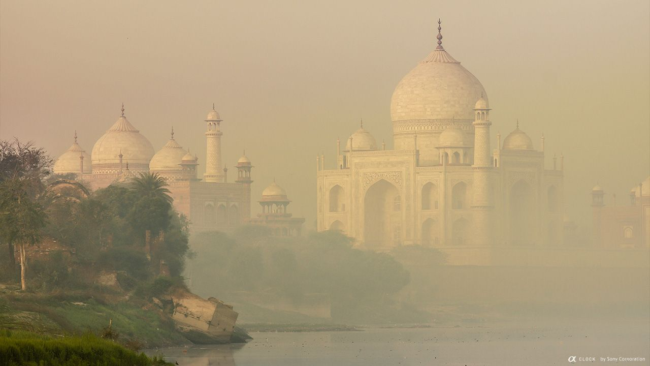 Taj Mahal,Republic of India,Sony Global - α CLOCK: WORLD TIME, CAPTURED BY α