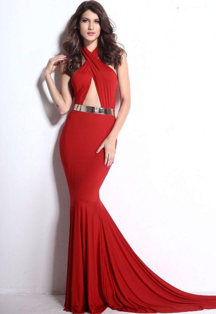307a02d5ea8f Maxi Vestido Rojo Corte Sirena – Malu Fashion | vestido | Vestidos ...